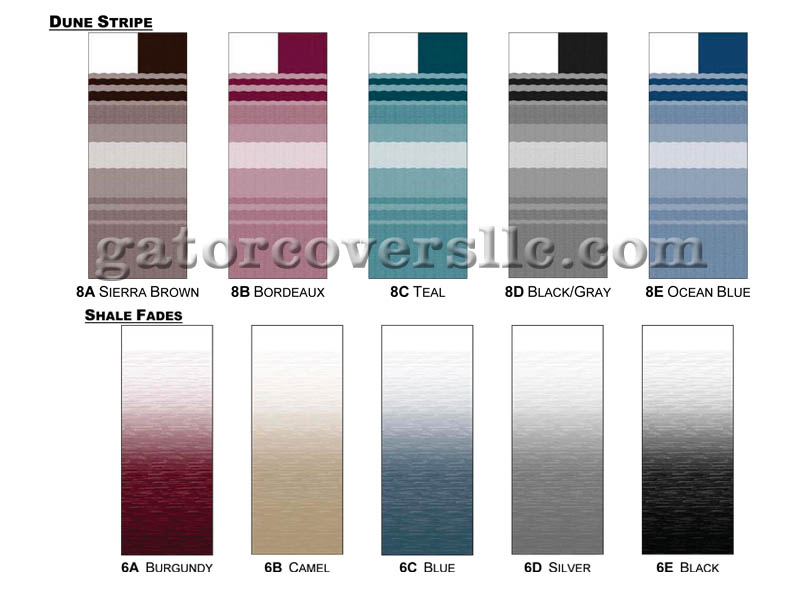 Carefree Sierra Brown Dune Stripe Vinyl Patio Awning Canopy Fabric Replacement for 6 Awning