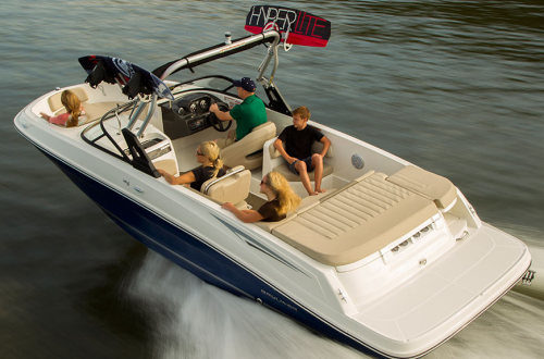 BLUE BOAT COVER FITS SEA RAY 200 BOW RIDER 1989-1990
