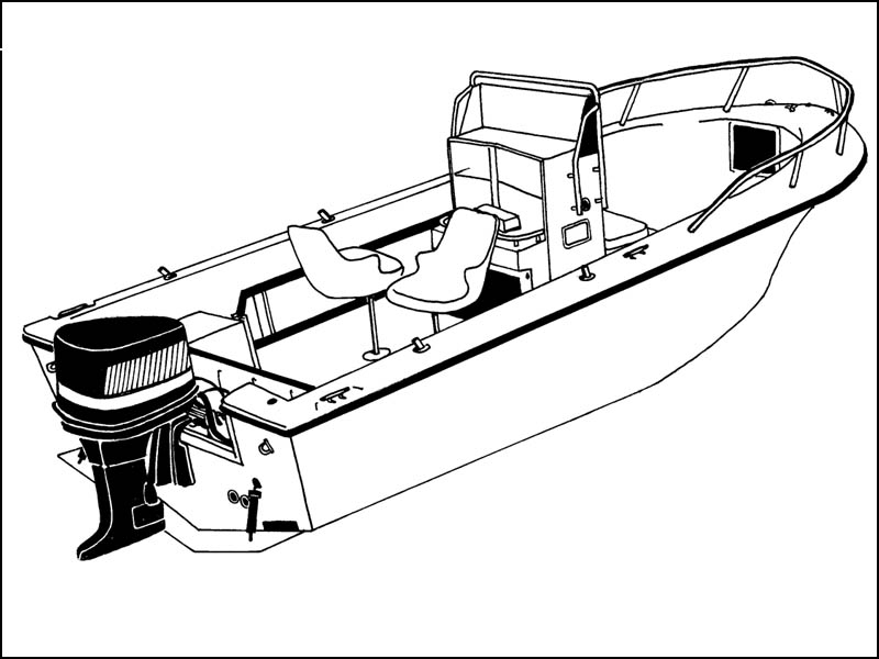 V-Hull Center Console Fishing Boat with High Bow Rails
