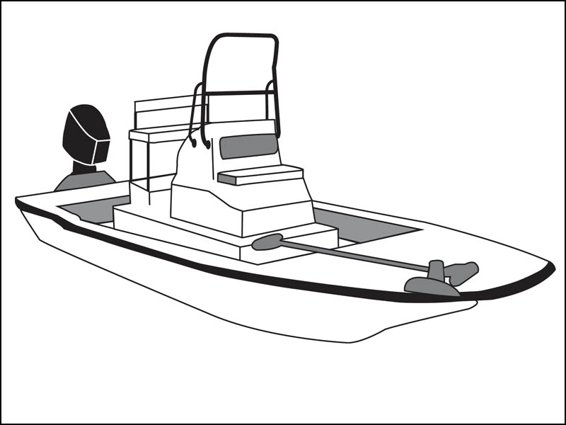 Flats Boat with High Grab Rail