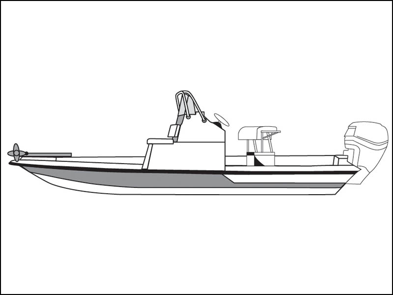 Flats Boat with Low Grab Rail