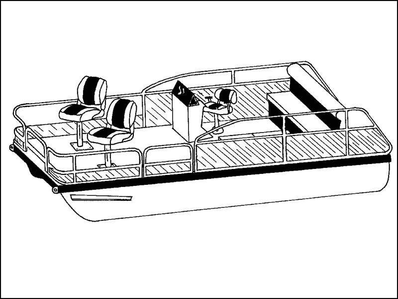 Pontoon Boat with Low Bow Rails