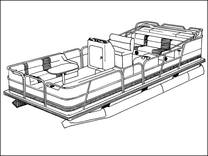 Pontoon Boat with Fully-Enclosed Deck