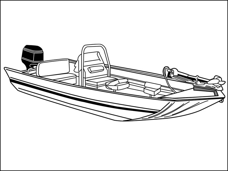 Aluminum Modified V John Boat with Center Console