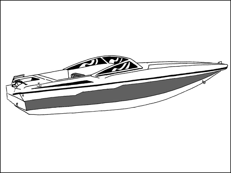 Ski Boat with Low Profile Windshield