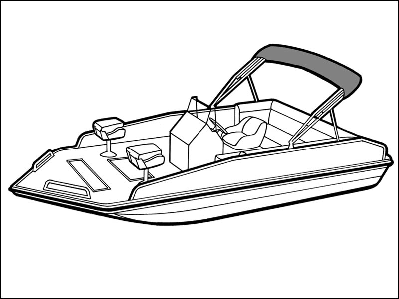 Modified V Performance Deck Boat