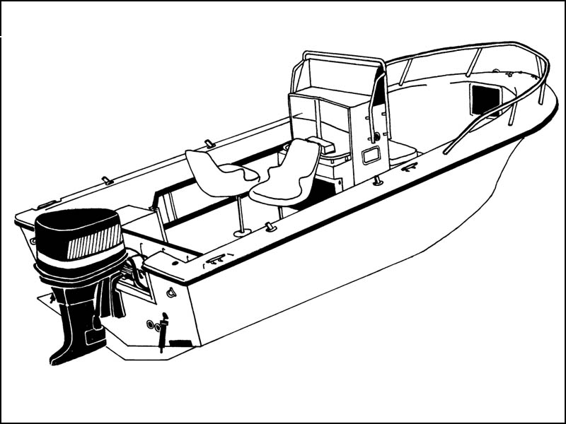 V-Hull Center Console Fishing Boat with High Bow Rails - Narrow
