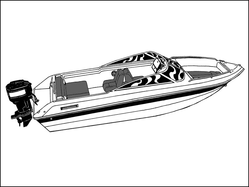 V-Hull Runabout Boat with Windshield and Hand or Bow Rails