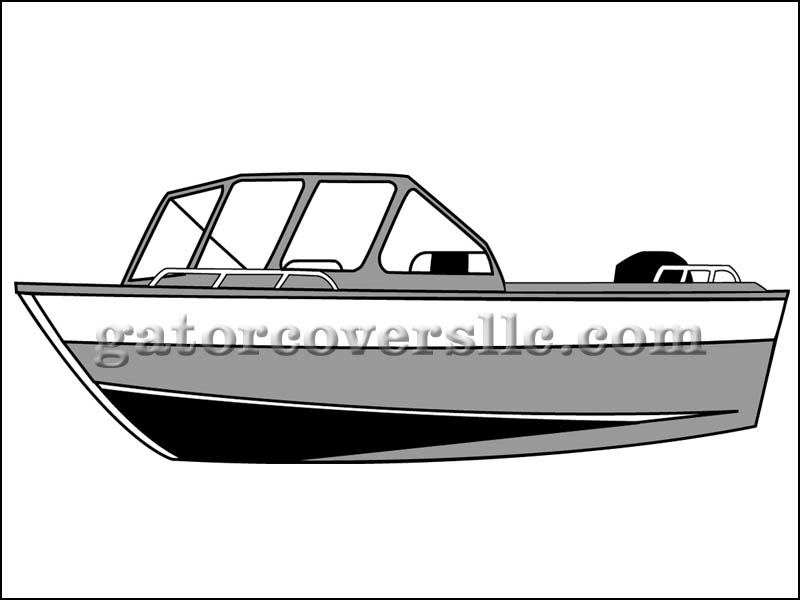 Aluminum Fishing Boat with Forward Windshield