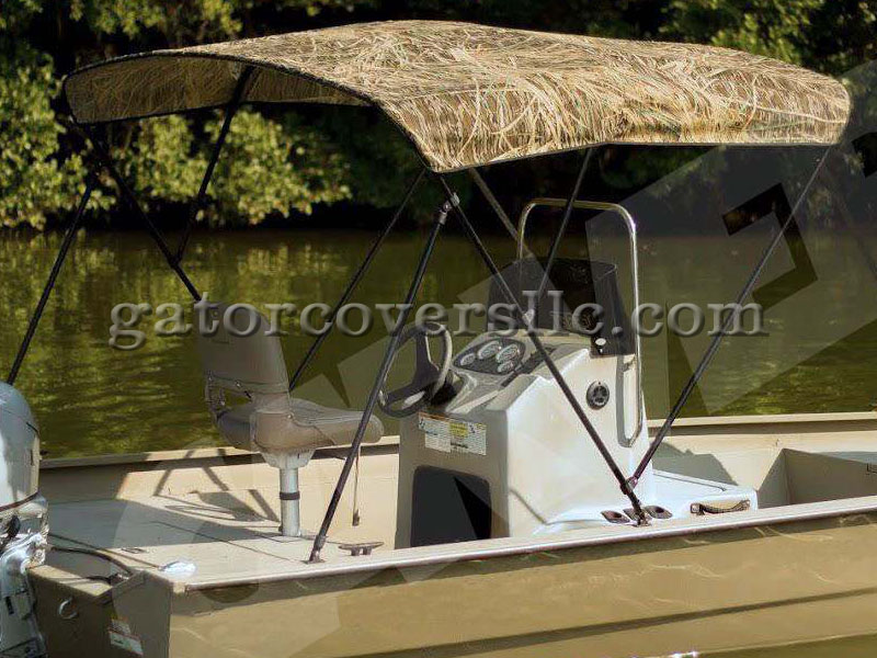 Bimini tops with camouflage fabric