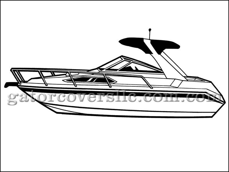 High Profile Cabin Cruiser with Radar Arch