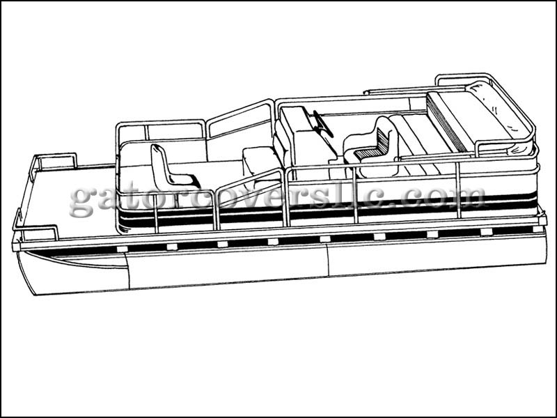 Pontoon Boat with Partially Enclosed Deck