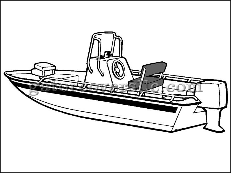 V-Hull Center Console Shallow Draft Fishing Boat