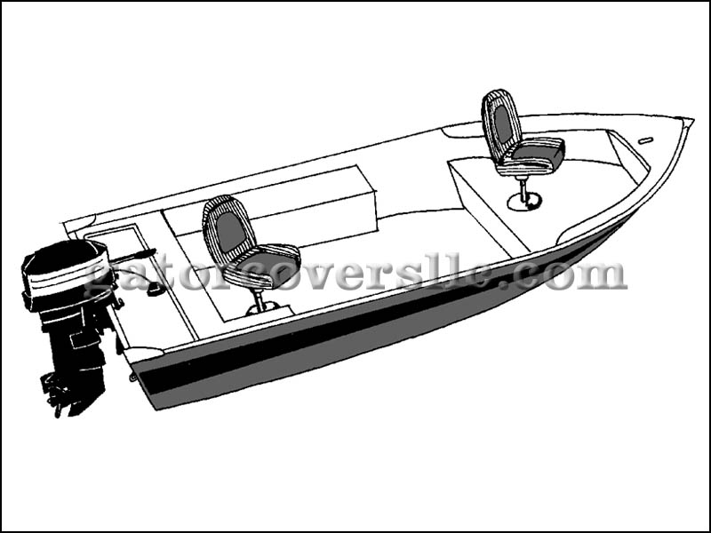 V-Hull Fishing Boat - Narrow