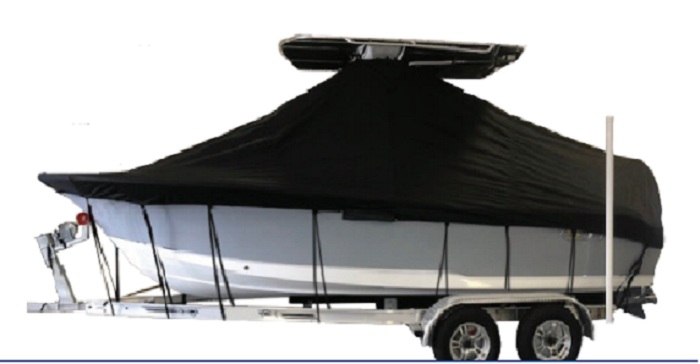 2020 KEY WEST 188 BAY REEF W/ T-TOP OR HARD TOP W/ SINGLE ENGINE (ATTACHES UNDER THE TOP) - STORAGE ONLY COVER