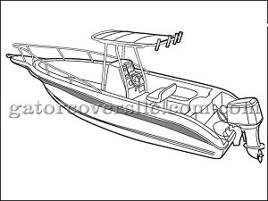 "20' 6"" Center Console Boat with T-Top"