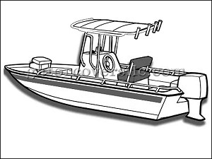 "27' 6"" V-Hull Bay Boat w/ T-Top"