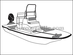 "24' 6"" Flats Boat With High Grab Rail"