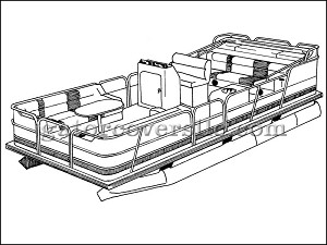 "20' 6"" Pontoon w/ Fully-Enclosed Deck"