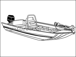 "21' 6"" X-Wide Modified V Jon Boat w/ High Center Console"