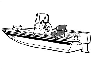 "19' 6"" Shallow Draft V-Hull Center Console Fishing Boat (Outboard)"