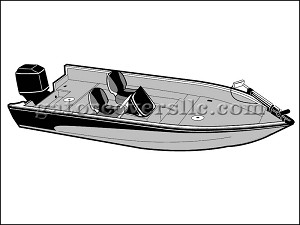 "18' 6"" Narrow V-Hull Fishing Boat With Side Console (Outboard)"