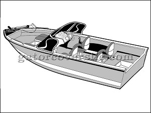 "17' 6"" Narrow V-Hull Fishing Boat With Walkthru Windshield (Stern Drive)"