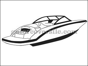 "25' 6"" V-Hull Runabout Boat with Walk-Thru Transom, WIndshield and Hand or Bow Rails"